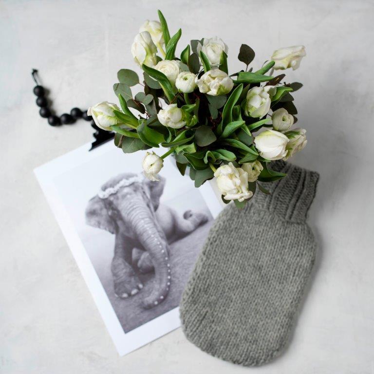 Wärmflaschenhülle selbstgemacht aus Wolle