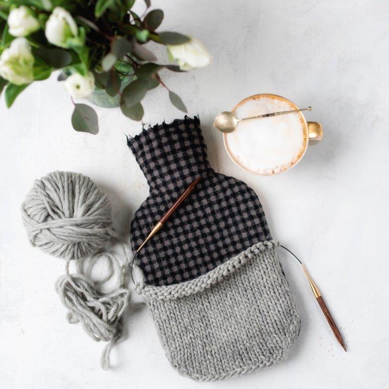 DIY Winter Hygge Wärmflaschenhülle stricken