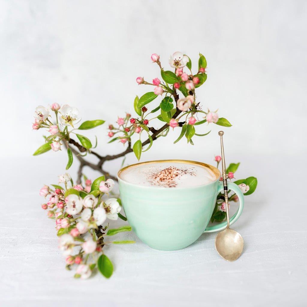 Apfelblüten Kaffeepause